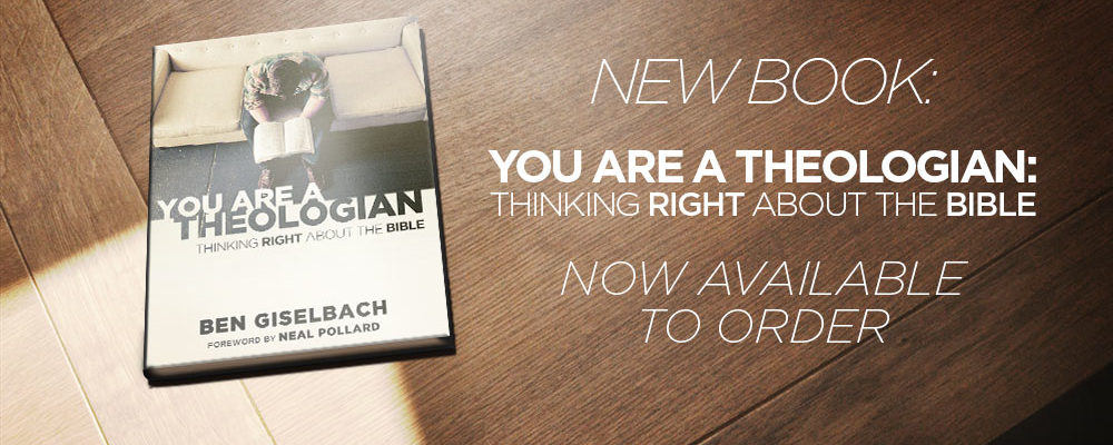 New Book: You Are A Theologian: Thinking Right About The Bible